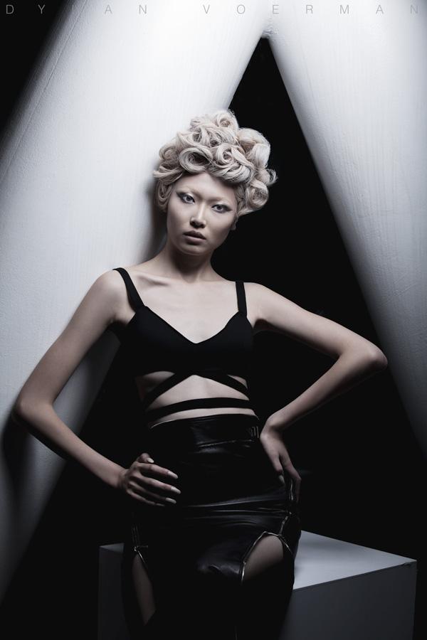 Model Li Xinger for AHMA - HKDI Yearbook Hong Kong