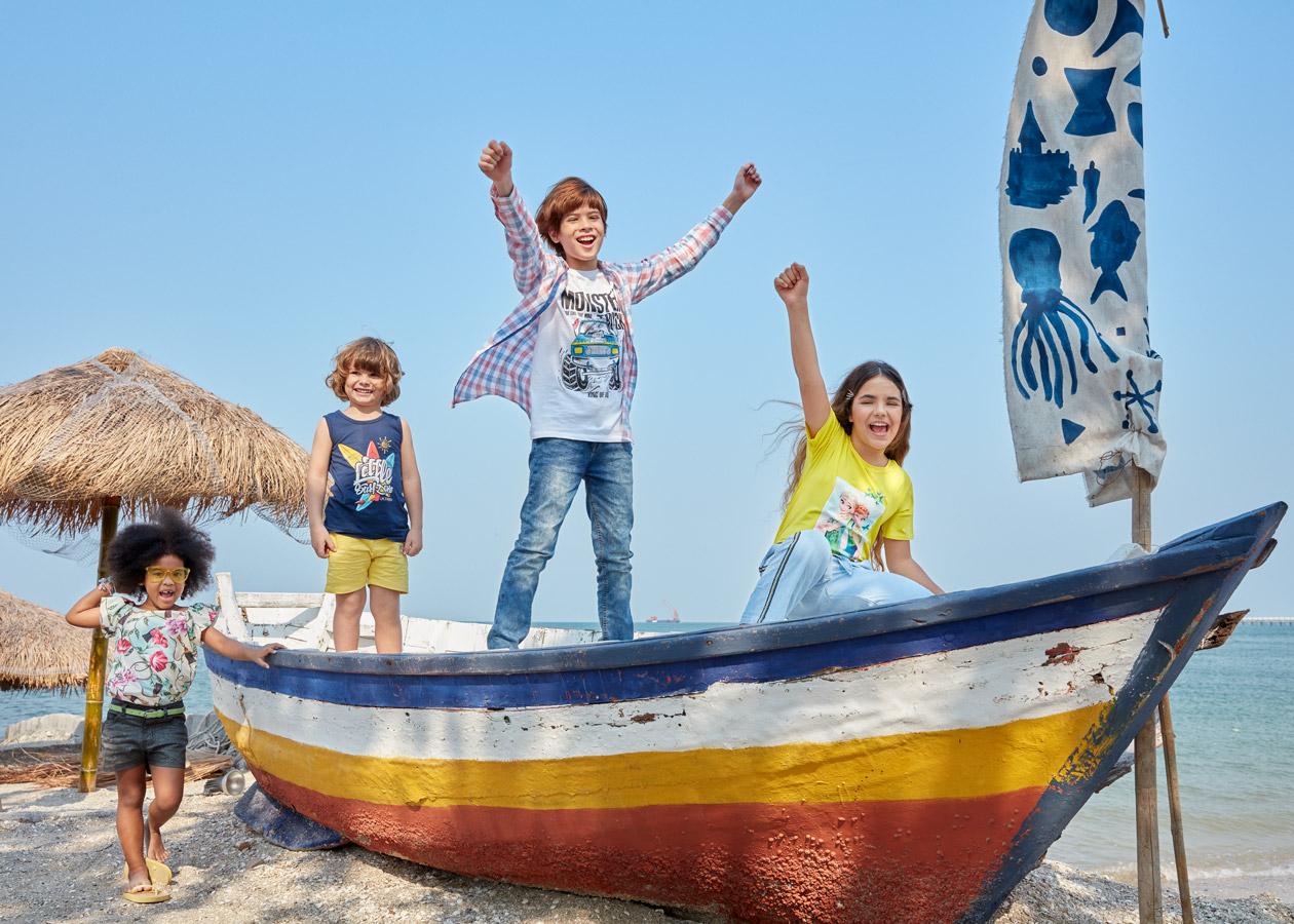 Kids Breakout Pakistan fashion brand website billboards photo shoot Bangkok Beach 2020 children clothing