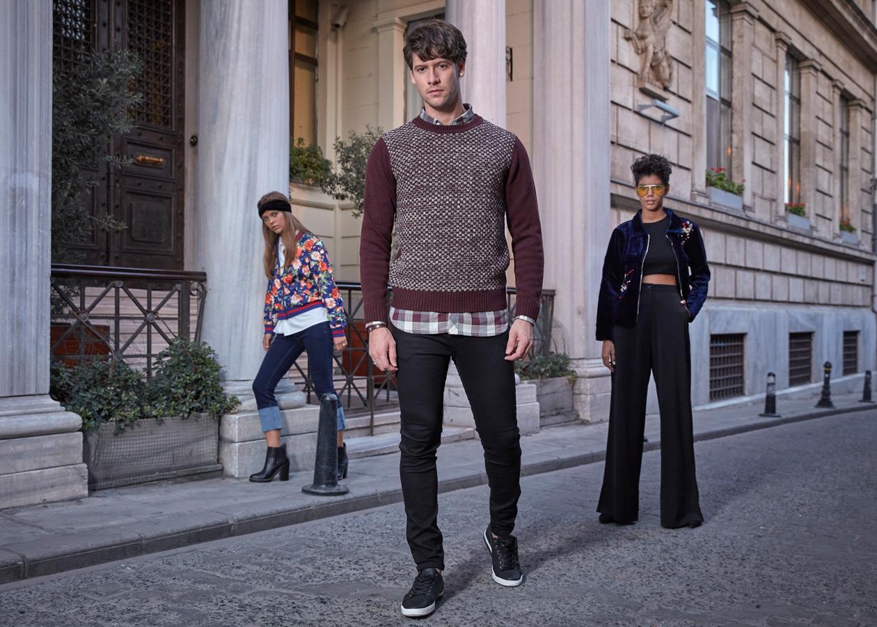 Breakout Pakistan fashion brand website billboards photo shoot Istanbul Turkey Winter 2017