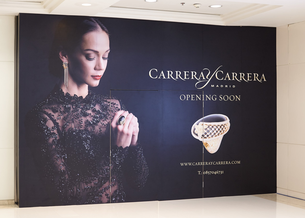 carrera y carrera storefront for Thailand website billboards jewelry luxery brand