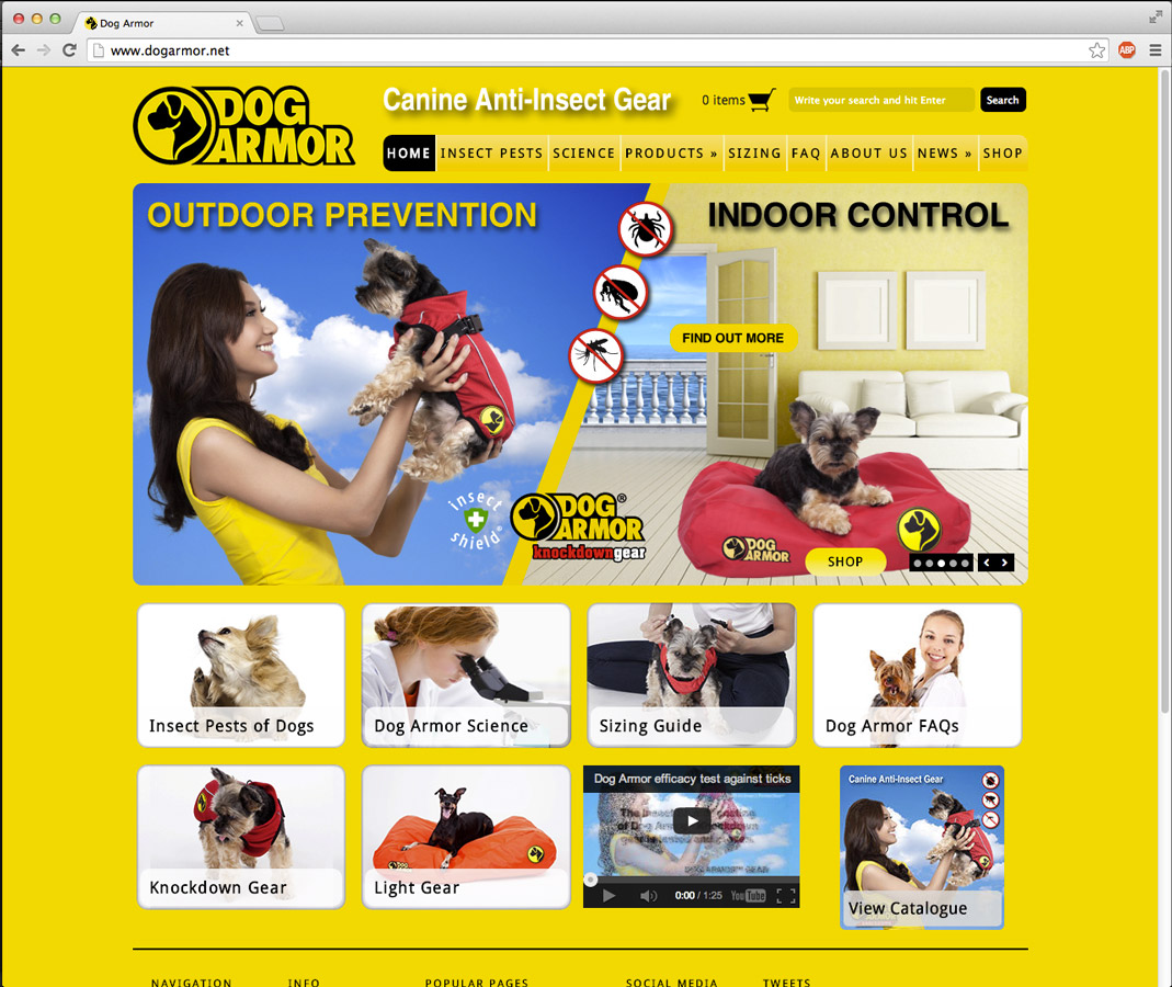 dog armor website billboards