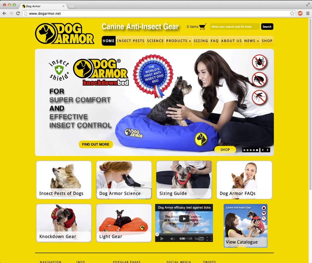 dog armor website billboards