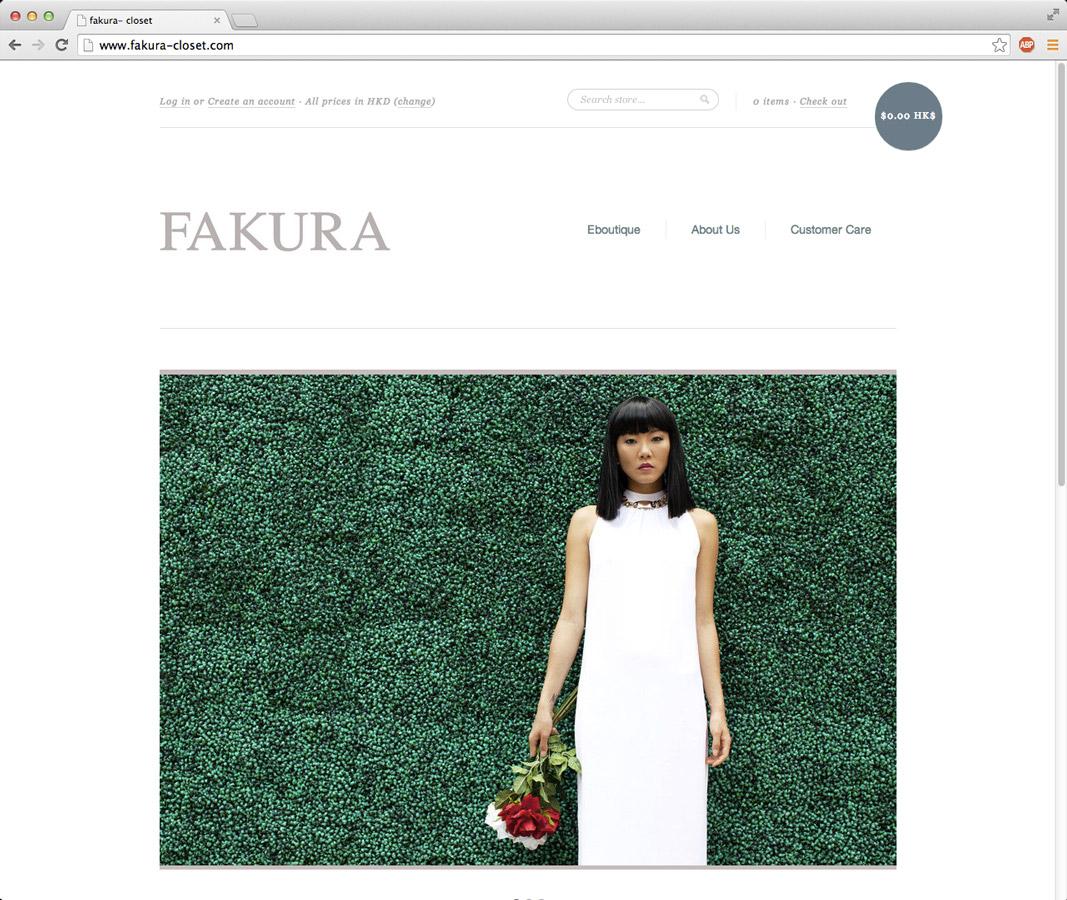 Fakura Closet Hong Kong fashion brand website