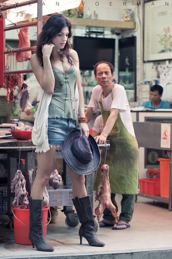 Model Martina Velika in Hong Kong