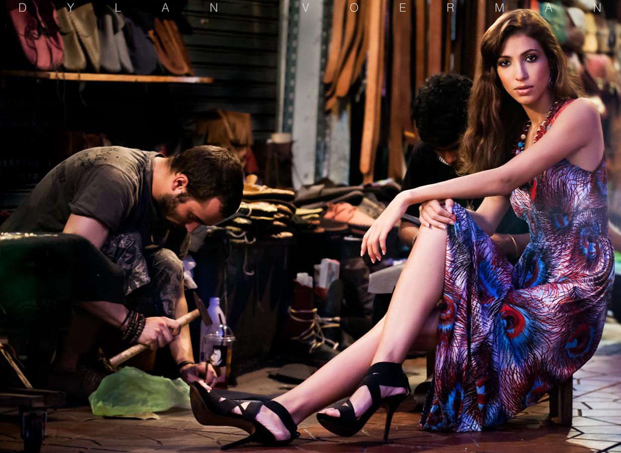 French Model Claudia Carmen Carpentier in Bangkok Thailand