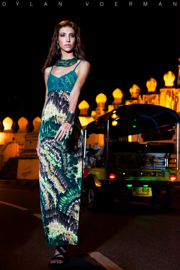 French Model Claudia Carmen Carpentier in Bangkok Thailand