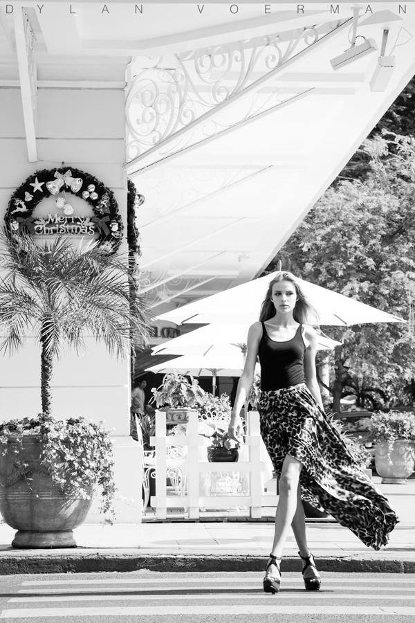 Model Natalia Falba in Saigon Ho Chi Minh City Vietnam