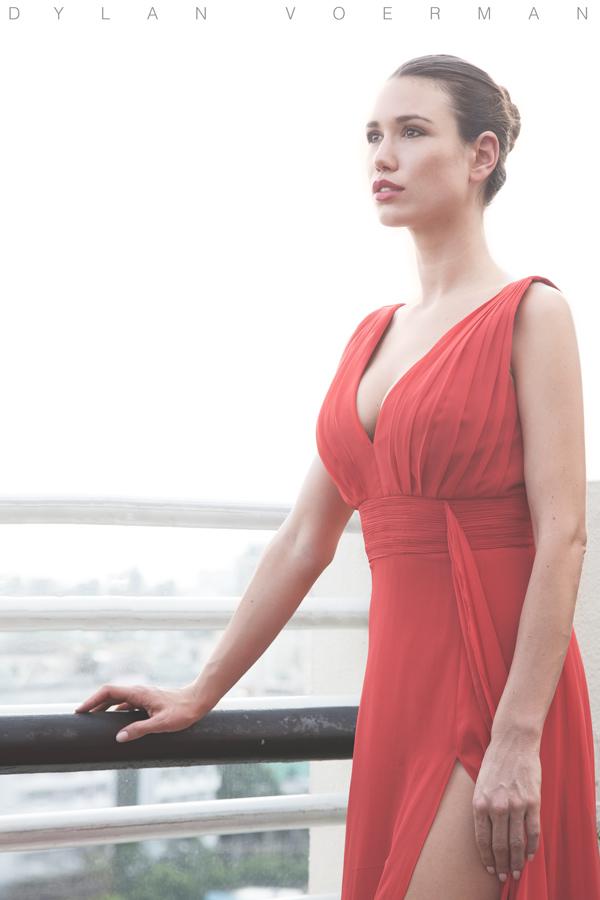 Model Doris Kemptner in Saigon Ho Chi Minh City Vietnam