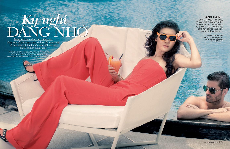Model Kaew Maythavee for Cosmopolitan Magazine Vietnam
