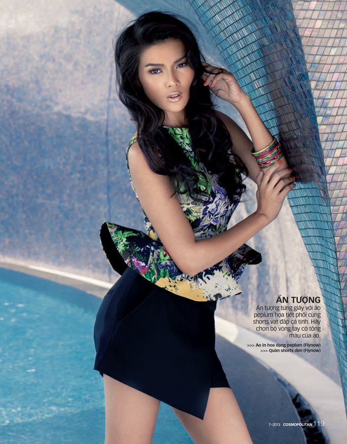 Model Kaew Maythavee for Cosmopolitan Magazine Vietnam