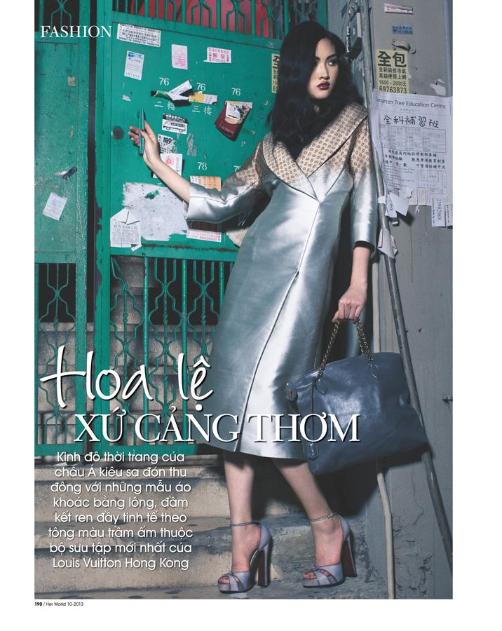 Model Jing Wen SuperMii at Hong Kong for HerWorld October 2013 Magazine Vietnam