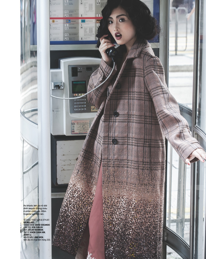 Model Jing Wen SuperMii at Hong Kong for HerWorld October 2013 Magazine Vietnam
