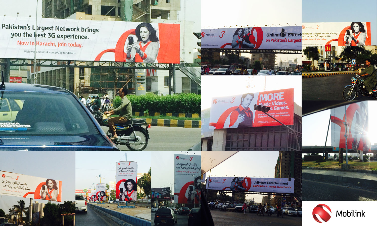 mobilink telecom pakistan website billboards