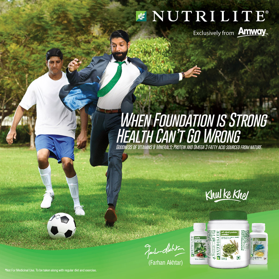 Nutrilite Amway India Farhan Akhtar advertising campaign for India website billboards