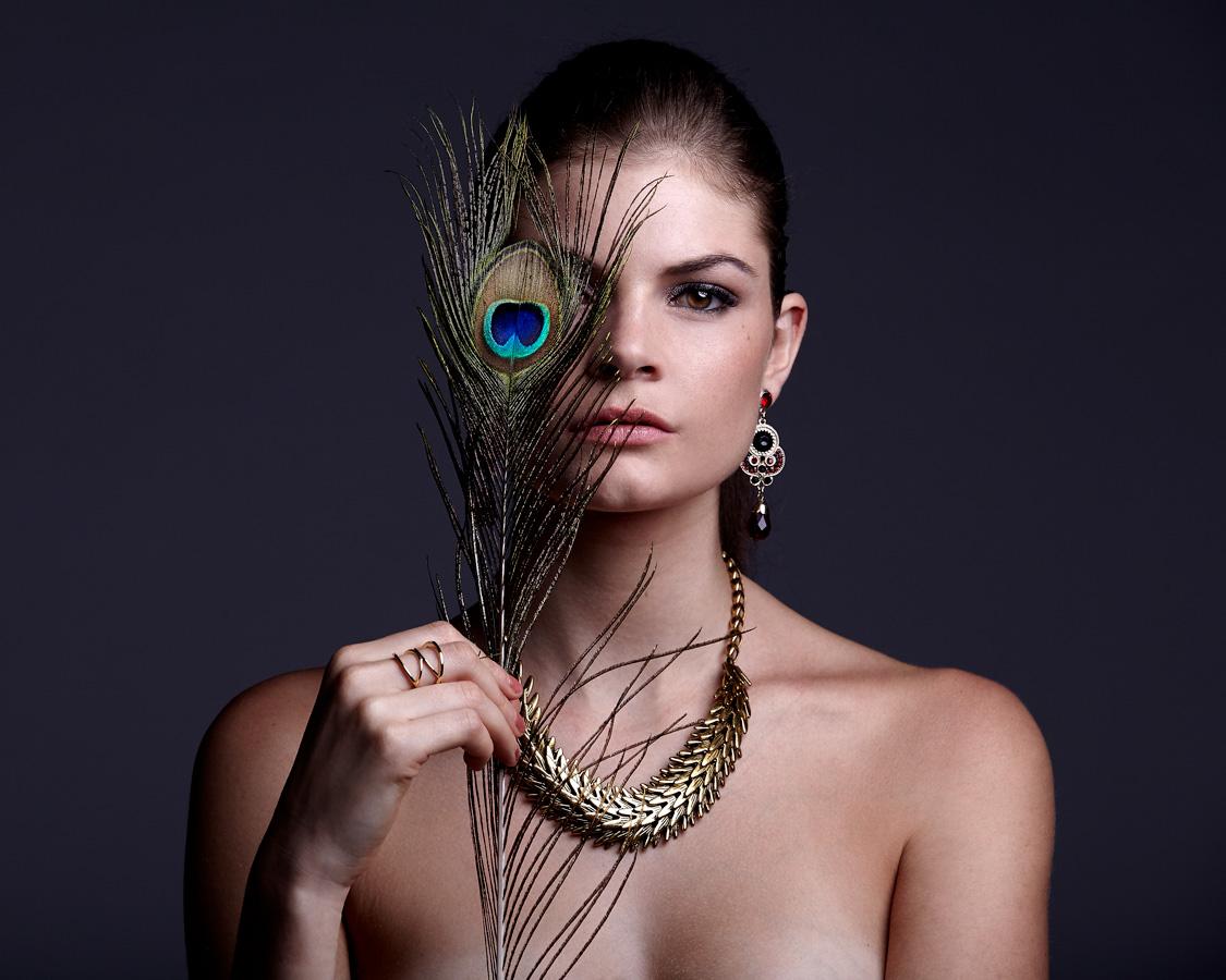 portrait French model in bangkok