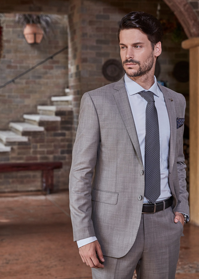 Grey Royal tag formal suits for men
