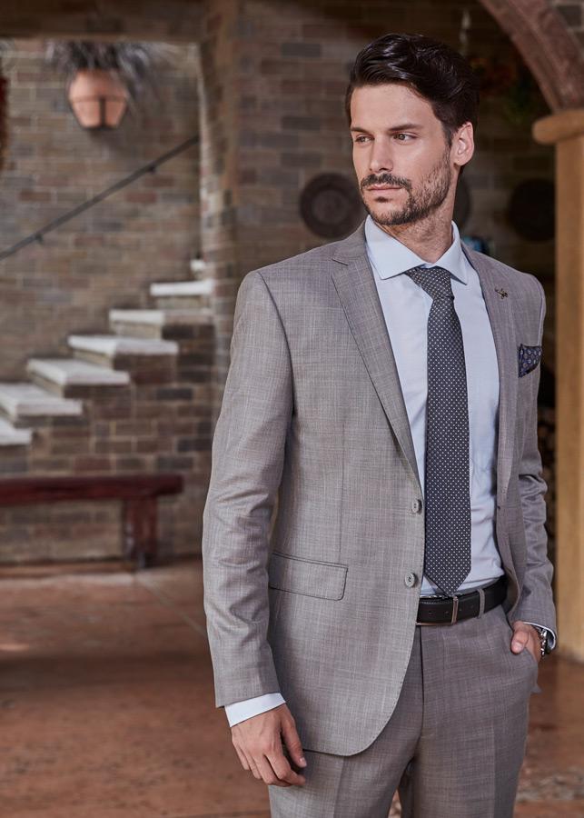 Grey Royal tag formal suits for men