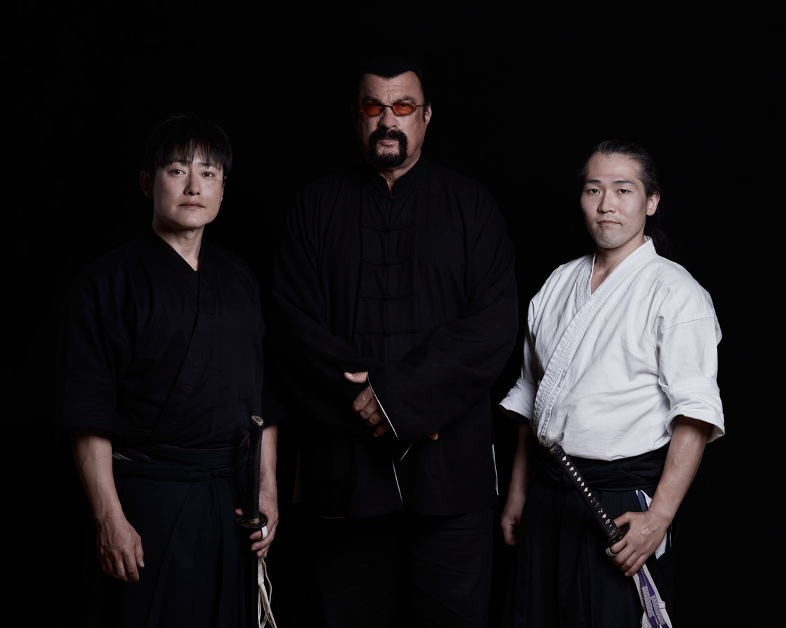 Steven Seagal in Japan with Samurai and Aikido Master by dylan voerman