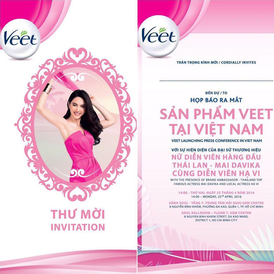 Veet Vietnam Thailand advertising campaign for Vietnam Thailand with Mai Davika Hoorne website billboards